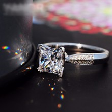 Lose Money Big Sale New 100% Solid Silver Ring Jewelry 3ct CZ Diamant Engagement Rings for Women 925 Sterling Silver Ring XR038