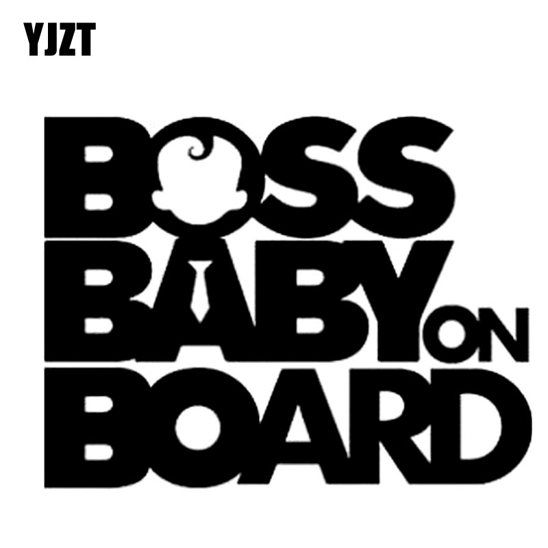 Us 1 02 45 Off Yjzt 17 8cm 13 5cm Boss Baby On Board Funny Car Decals Sticker Decoratice Black Silver C10 00089 In Car Stickers From Automobiles
