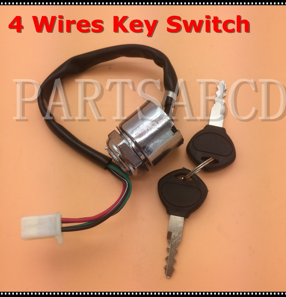 4 Wires Atv Quad Ignition Key Switch 110cc 125cc 250cc Dirt Bike Wiring Motorcycle Parts In Accessories From Automobiles Motorcycles On