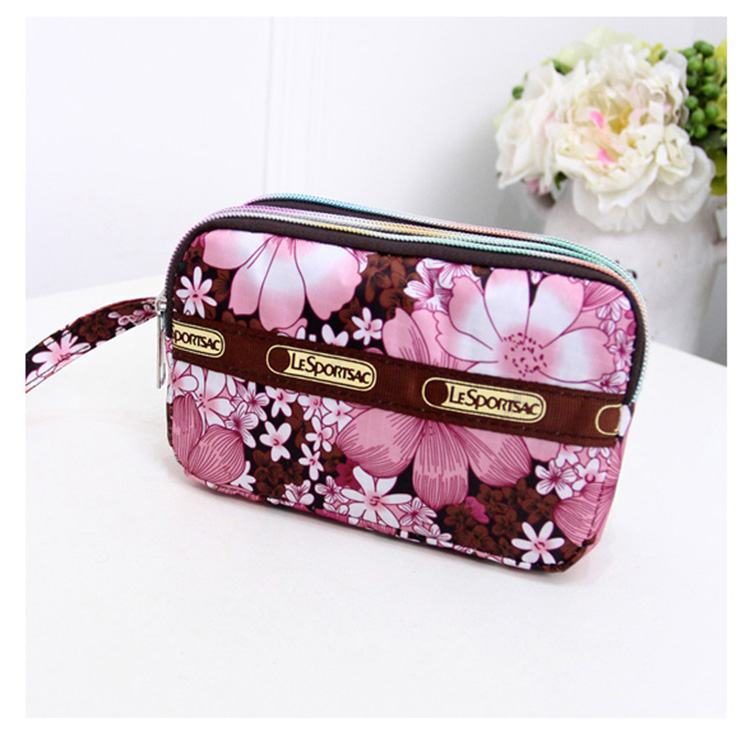 new cute floral women wristlet 3 zipper cellphone bags coin case purse money wallet for girls cuzdan rose diary new fresh pool party cute silicone zipper bags zero wallet child girl boy purse lady women coin wallets pouch case