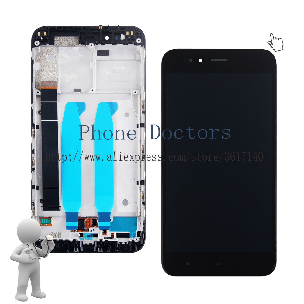 5.5 Nuovo Touch Screen Digitizer Vetro + Display LCD Assembly Con Frame Per Xiaomi Mi A1 MiA1; nero/Bianco; 100% Testato5.5 Nuovo Touch Screen Digitizer Vetro + Display LCD Assembly Con Frame Per Xiaomi Mi A1 MiA1; nero/Bianco; 100% Testato
