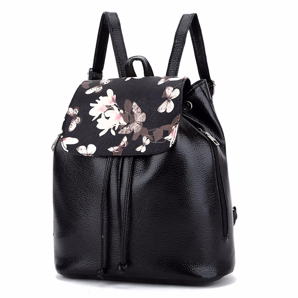 High Quality PU Leather Retro Printing Backpacks Women For Teenagers Girls Brand Backpack Mochilas Mochila Escolar School BagsHigh Quality PU Leather Retro Printing Backpacks Women For Teenagers Girls Brand Backpack Mochilas Mochila Escolar School Bags