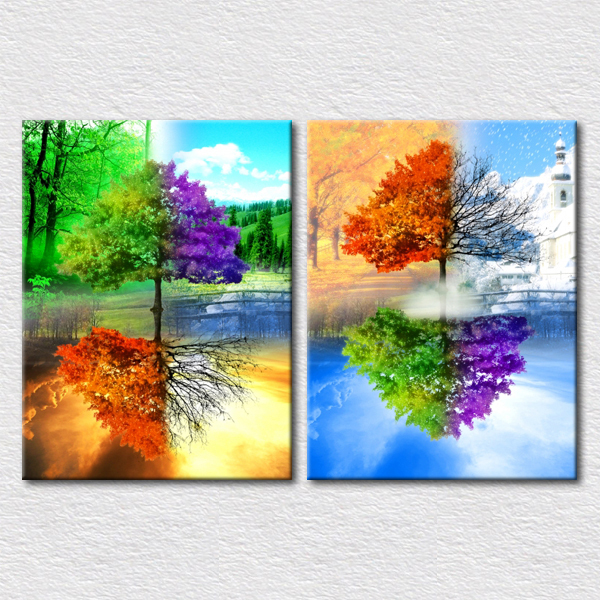 magic nature pictures beautiful trees painting for kids gift modern art printing canvas for kids. Black Bedroom Furniture Sets. Home Design Ideas