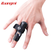 Kuangmi 1 Piece Adjustable Finger Sleeve Support Protector Prevents Injury During Sports Bandage Pain Relief