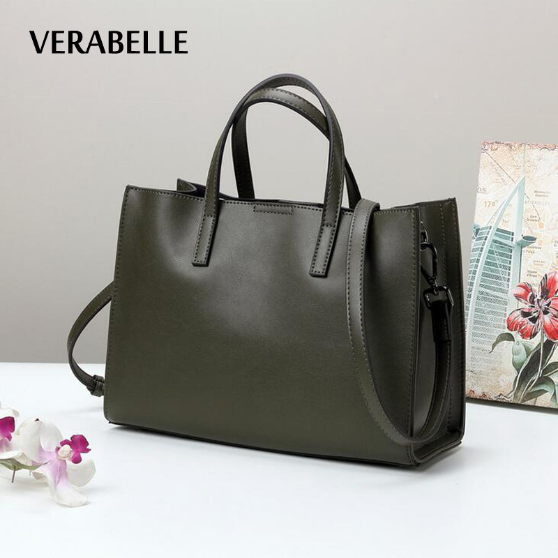 VERABELLE 2018 luxury brand designer women casual totes handbag cowhide split leather large capacity female shoulder bag 2017 new casual snake pattern genuine leather women handbag serpentine fashion shoulder bag luxury brand designer female totes