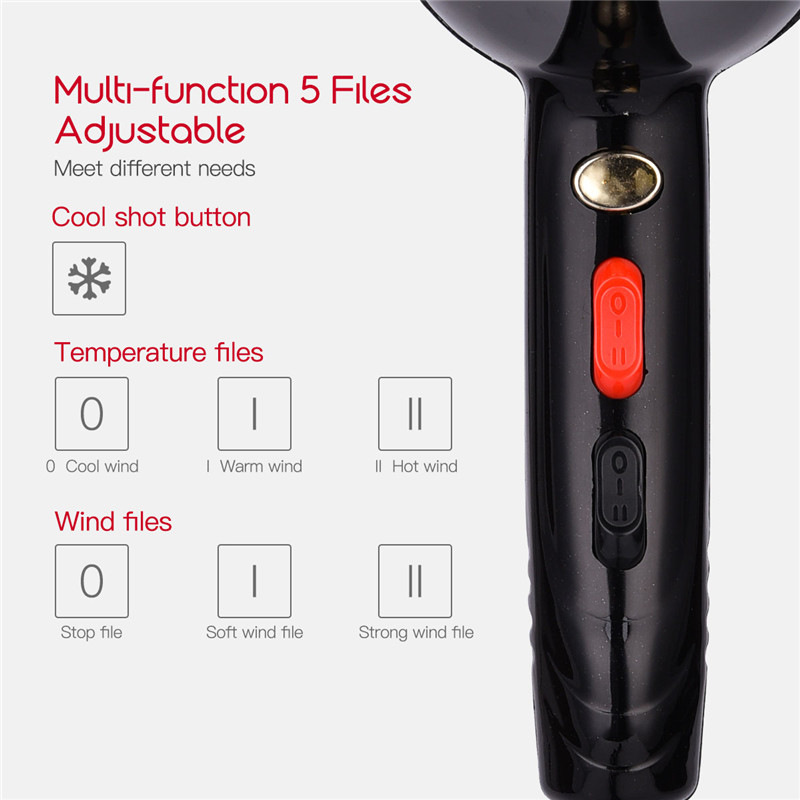 Image 5 - 4000W Powerful Professional Salon Hair Dryer Negative Ion Blow Dryer Electric Hairdryer Hot/Cold Wind With Air Collecting NozzleHair Dryers   -