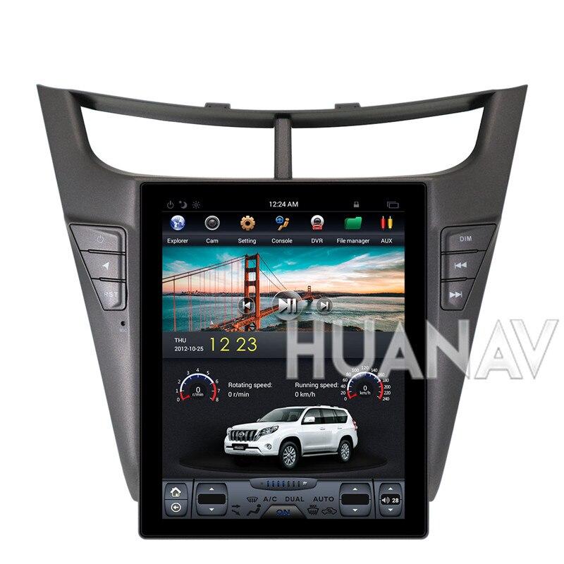 Tesla style voiture DVD GPS Navigation pour CHEVROLET Sail 2015 2016 2017 2018 Android auto radio stéréo magnétophone 10.4''
