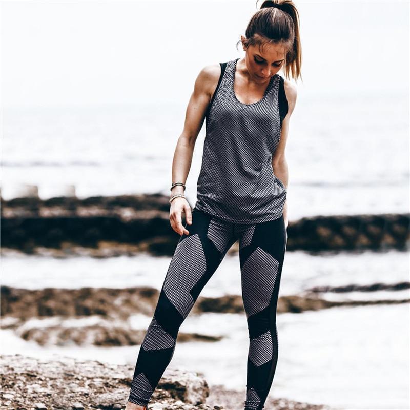 Sport Women Yoga Pants Fitness Leggings Light High Elastic Shine Leggins Workout Slim Fit Women Pants Black Jeggings Trousers 3