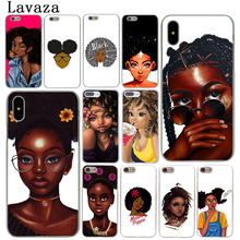 Lavaza Beleza Africano Afro Puffs Black Girl Case Capa Do Telefone para o iPhone Da Apple X Max 6 6 XR XS s 7 8 Plus 5 5S SE 5C 4S 10 Casos(China)