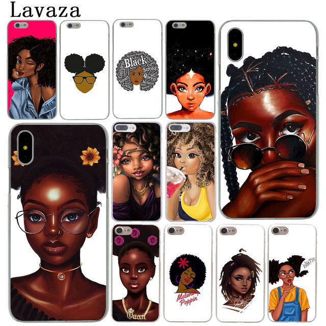 sale retailer 9e5e2 dab1a US $1.99 22% OFF|Lavaza African Beauty Afro Puffs Black Girl Phone Cover  Case for Apple iPhone X XR XS Max 6 6S 7 8 Plus 5 5S SE 5C 4S 10 Cases-in  ...