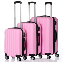 3 in 1 Multifunctional Large Capacity Traveling Storage Suitcase Pink US Stock