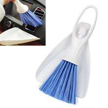 Dust Brush Scoop Panel Dashborad Useful Air Outlet Vent Car Cleaning Brush Dustpan Cleaning Tools Kits