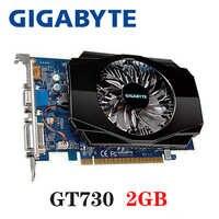 Carte vidéo PC GIGABYTE cartes graphiques d'origine GTX 960 2 GB 128Bit GDDR5 pour cartes nVIDIA VGA jeu Geforce GTX960 Hdmi Dvi utilisé