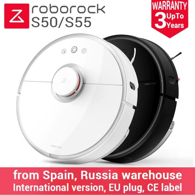2018 Newest Roborock S50 Black S55 Robot Vacuum Cleaner 2 Home Automatic Sweeping Dust Sterilize Smart Planned Washing Mopping Vacuum Cleaners