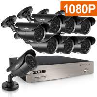 ZOSI HD TVI 8CH 1080P DVR Kit 2 0MP Security Cameras System 8 1080P Day Night