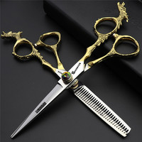 6 inch professional grooming pet scissors for dog cat high quality japanese steel cutting thinning shears groomer scissors