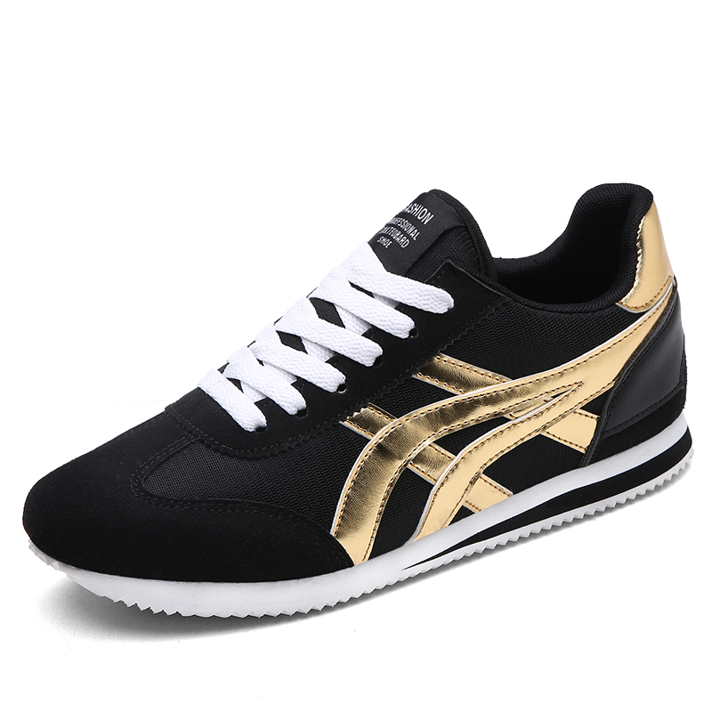 Women Running Shoes Sneakers Men Traineres Outdoor Gold Luxury Brand Zapatos Mujer Chaussures Femme Zapatillas Hombre