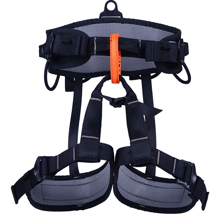 Outdoor climbing safety belts safety equipment harness climbing belt waist safety Aluminum solid belt 800KG Available  GM1414 25kn professional carabiner d shape safety master lock outdoor rock climbing buckle equipment