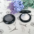 free shipping black skylight eye shadow/blusher/face cream packing box with flipp cap(3.75cm aluminum plate)