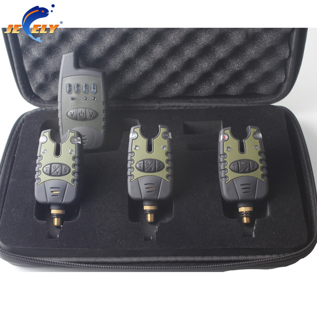 Free shipping Manufacturer Fishing bite alarm wireless set JY-32 (3alarms+1receiver) for fishing swinger box