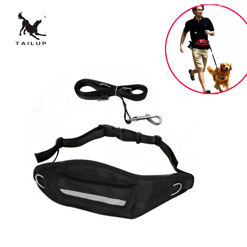 Leashes Tailup Dog Hands Free Leash Nylon Quick Release Leashes Outdoor Pets Runing Riding Walking Hiking Accessories