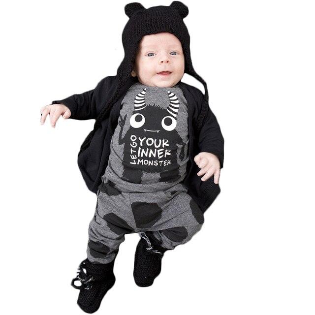 f1ec0cbb2 2018 Hot Selling Fashion Baby Boys Girls Clothing Set Infant Long ...