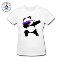 2017 Fashion New Gift Tee Dabbing Unicorn Panda Cartoon Cotton Funny T Shirt Women
