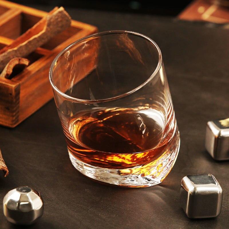 Tour penchée de pise fond incliné Whisky Vin Rock Verre pour Bar NMD Brandy Snifer Chivas Whisky tasse à boire Verre a Vin
