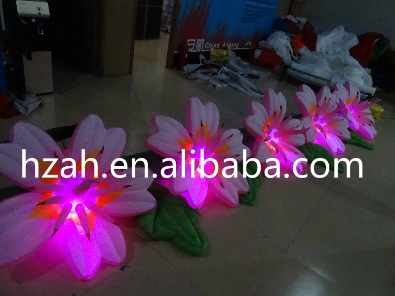 5M Inflatable Pink Flowers Chain For Wedding Decoration