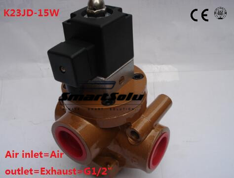 Brick Machine Parts -- Electric Control Reversing Valve 2/3Way Pneumatic Stop Valve Cut Off Solenoid Valve oven parts rice cooker machine assemble valve with 3v solenoid valve