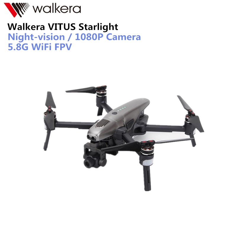 Walkera Vitus 320 Starlight RC Drone FPV with 3-Axis 4K Camera Selfie Quadcopter AR Games Drone Obstacle Avoidance original walkera devo f12e fpv 12ch rc transimitter 5 8g 32ch telemetry with lcd screen for walkera tali h500 muticopter drone