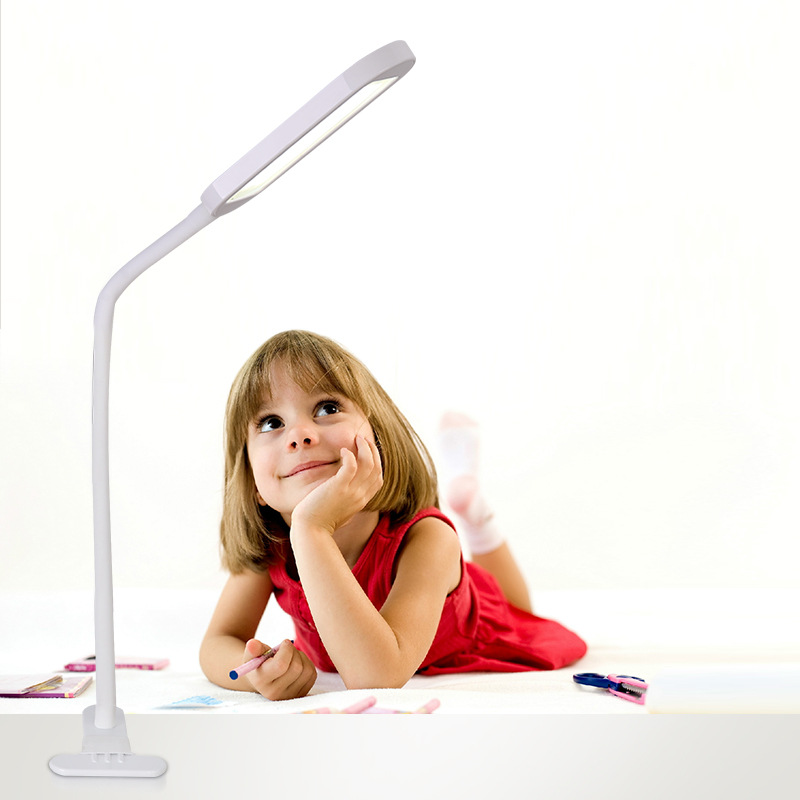 Touch 3-level Dimming LED Clip Desk Table Lamp USB Rechargeable Flexible Neck 360 Degree Night Light lamp For Reading IY161164 xgear 360 rotary desktop flexible neck clip holder for 3 5 6 3 cell phones white green 85cm