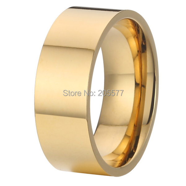 new design gold plating 8mm man fashion jewelry pure titanium mens