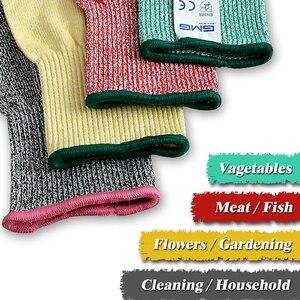 Image 5 - לחתוך עמיד כפפות רמת 5 GMG ססגוניות HPPE מזון כיתה למטבח אנטי לחתוך כפפות לחתוך הוכחת כפפות