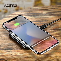 Promotion Ultra Thin Qi Wireless Charger For iPhone X/XS Max XR 8 8 Plus Fashion 10W Fast Charging Pad For Samsung Note 9 S9 S8