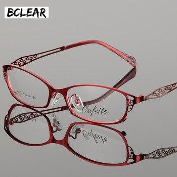 6dbee75b2916 BCLEAR High-grade women spectacle frame metal alloy eyeglasses frame half frame  glasses frame female optical eyeglasses S99002