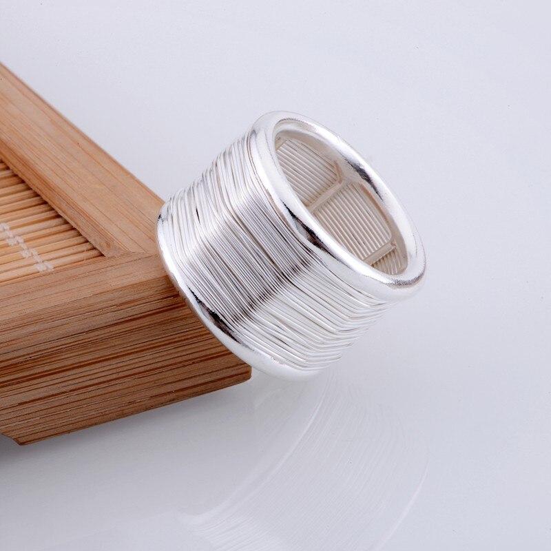 מעגלי מבריק תכשיטי אופנה סיטונאי בציפוי כסף טבעת 925 טבעת כסף 925sterling-silver tajvccjz