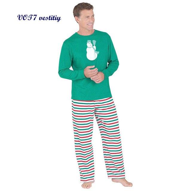 2017 Christmas fashion VOT7 vestitiy Adult Men Christmas XMAS Pajamas Set Sleepwear Nightwear Oct 18