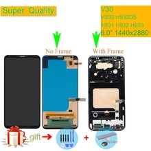 ORIGINAL For LG V30 LCD H930 H930DS H931 H932 H933 VS996 LS998U US998 LCD Display Monitor Touch Screen Digitizer with Frame 6.0""