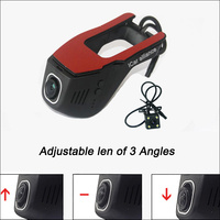 BigBigRoad For Citroen C3-XR APP Control Car Wifi DVR DashCam Novatek 96655 Dual lens Car Black Box hidden installation