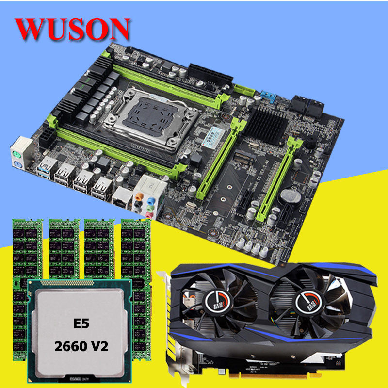 HUANAN V2.49 X79 motherboard CPU RAM combos set with video card Xeon E5 2660 V2 (4*8G)32G DDR3 REG ECC GTX960 4GD5 Video card deluxe edition huanan x79 lga2011 motherboard cpu ram combos xeon e5 1650 c2 ram 16g 4 4g ddr3 1333mhz recc gift cooler