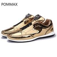 Men's Vulcanize Shoes Leisure Outdoor Man Sneakers Shoes Men Black Gold Silver Male Sneakers Tenis Masculino Zapatillas 39 44
