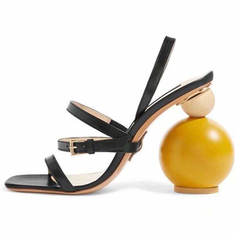 2018 Fashion runway women bandage sandals strange heel summer shoes ladies large size high heels black apricot catwalk shoes meifeier 407 fashion chiffon top for women apricot size m
