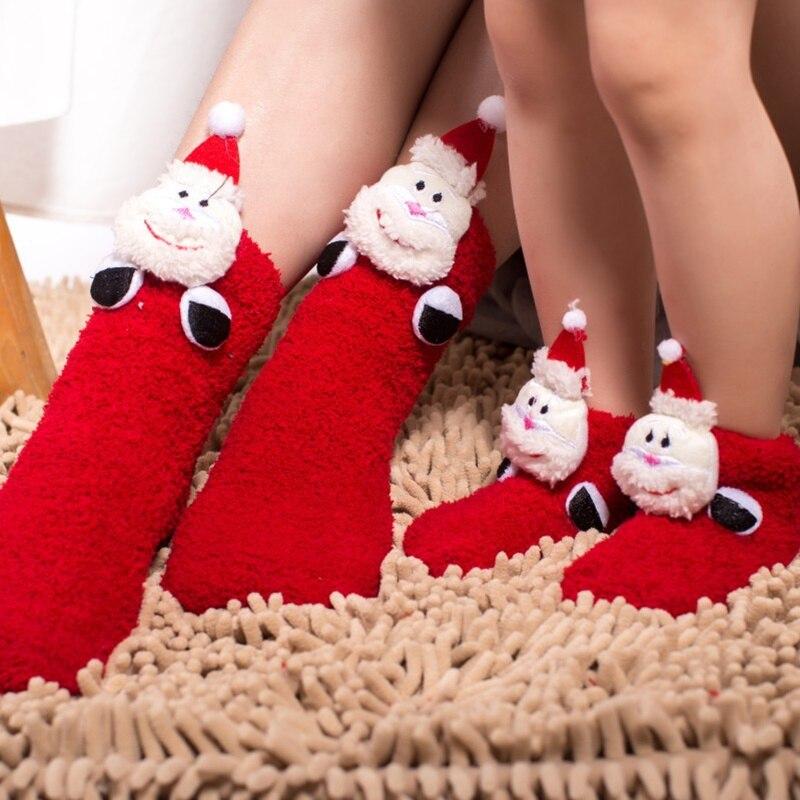 Abstand ~ Weihnachten Socking Winter Kinder Warme Fleece Socken Baby ...