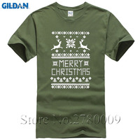 Merry Christmas Ugly Sweater T Shirt Cute Holiday Gift Xmas Holiday Tee Shirt