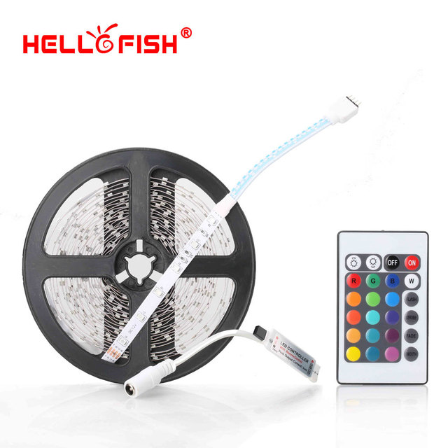 Hello fish 3528 rgb flexible 300 smd led strip light 24 key ir hello fish 3528 rgb flexible 300 smd led strip light 24 key ir remote controller mozeypictures Image collections