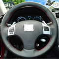 Black Artificial Leather Hand- stitched Car Steering Wheel Cover for Lexus is250