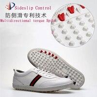 XFC Golf Shoes Men Sports Shoes Waterproof Breathable Sneakers Wearable Shoelace Anti slip Men Training Sneakers White