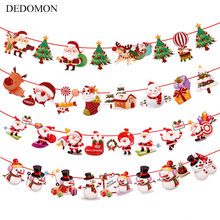 Baby Bedroom 2018 Christmas Banner Decorations Kids Tent Room Bumpers Decor Accessory Wall Hanging Infant Baby Crib Ornaments(China)