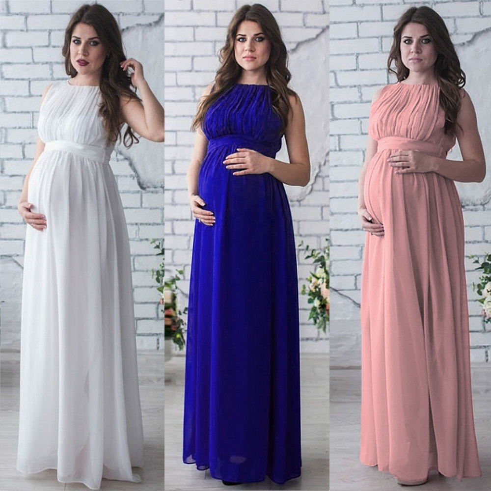 Telotuny Maternity-Dress Photography-Props Pregnant-Drape Nursing Casual Boho -40 Women's
